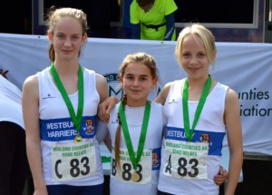 (from l-r) Rhiannon, Rosie and Kate win silver