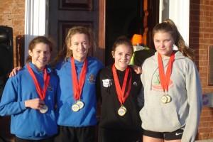 From left to right: Rosie Allen, Ellie Wallace, Ella Brimble, Ellie Leather