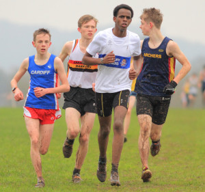 Abdi Hasan went on to place second place in the U15 race