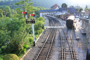 The Llangollen station was built in 1865, and is a popular subject for railway modellers