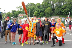 Saturday morning, and our superheroes gather in Caernafon