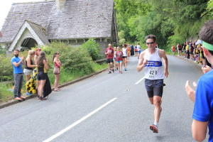 Another fast downhill finish awaited Colin at the end of leg 3, after some rather nasty hills (and no support)
